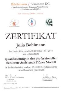 Zertifikat-Bohlmann